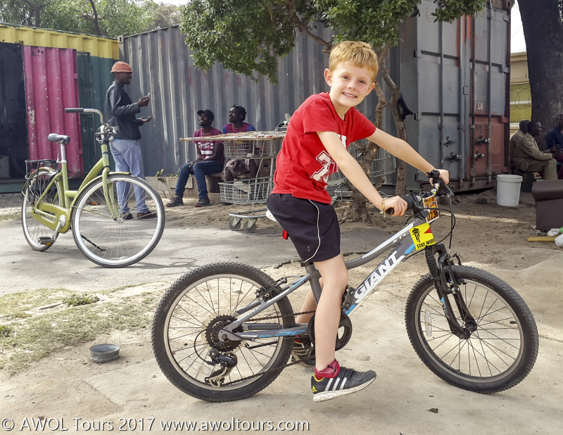 Kids on Masiphumelele bicycle township tour - AWOL Tours - www.awoltours.co.za