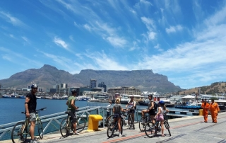 AWOL Cape Town waterfront cycling water