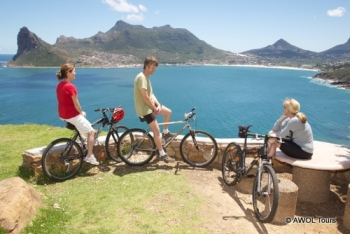 AWOL Tours cycling to Cape Point  Cape Town