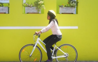 AWOL intern Vivian on city cycle tour (2)