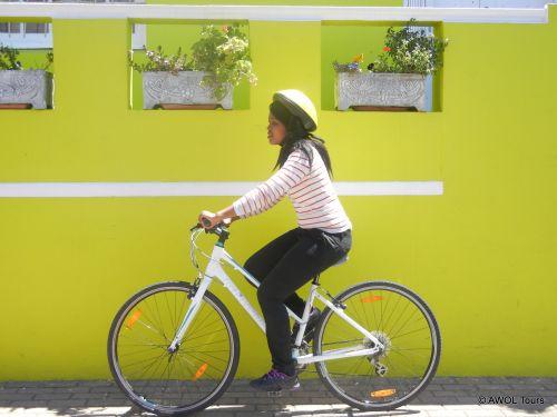 AWOL intern Vivian on city cycle tour (2)