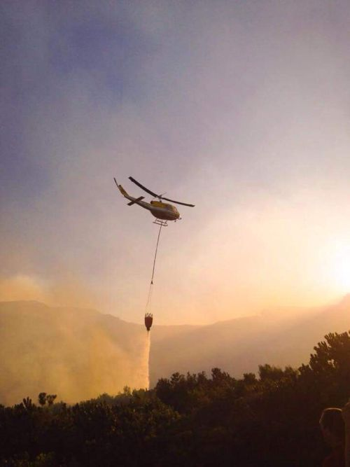 Cape Town Fire - helicopter