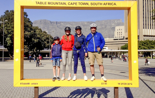 City Cycling with kids Station frame- AWOL Tours - www.awoltours.co.za