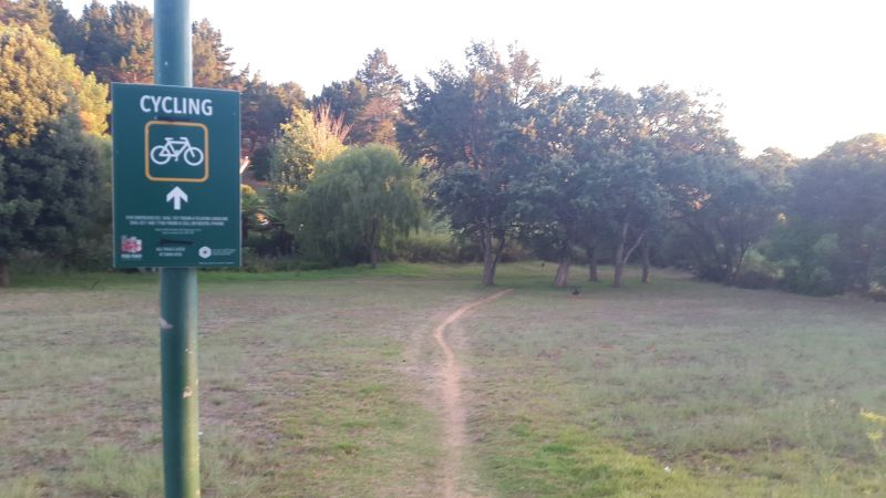 cycling in Constantia greenbelt signage and trails