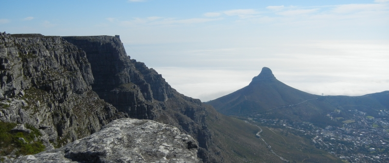 Table mountain flat on top