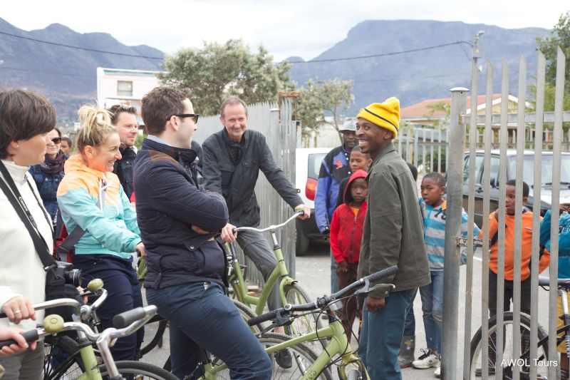 Township bicycle tour smiles