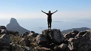 hiking - karen on Table Mountain