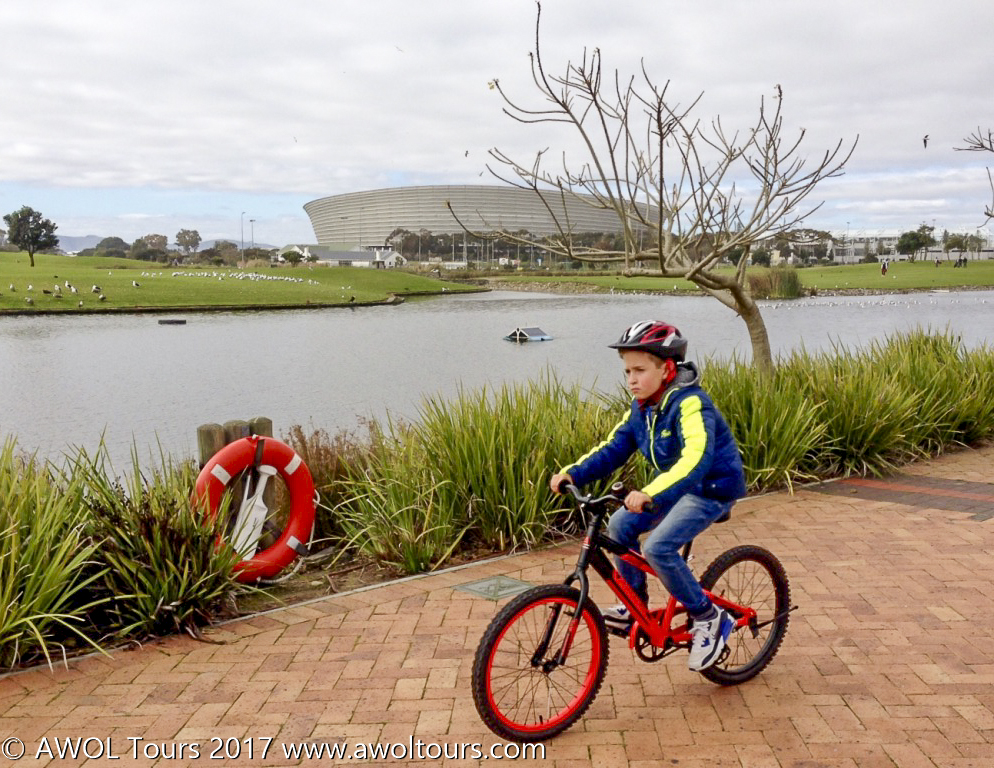 Kids cycling Green Point Park - AWOL Tours - www.awoltours.co.za