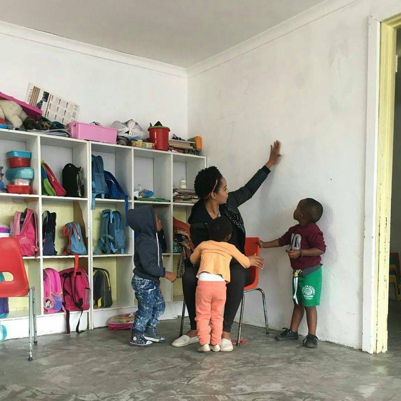 masivelani creche plastered walls