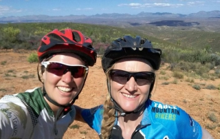 meike and sally j2c mountain bike training