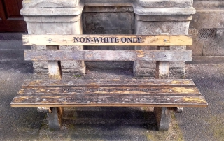 Benches, Non White Only / Non Black Only benches - Awol Tours