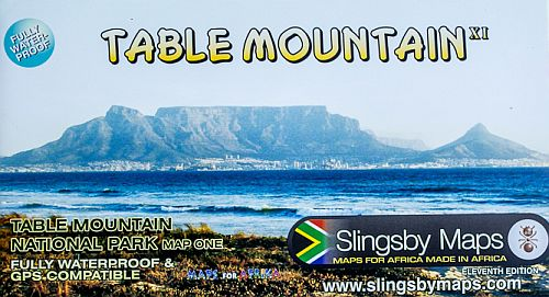 peter slingsby table mountain hiking map