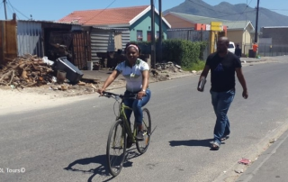 zizi township cycling tour in Masiphumelele